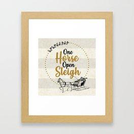 One Horse Open Sleigh Framed Art Print