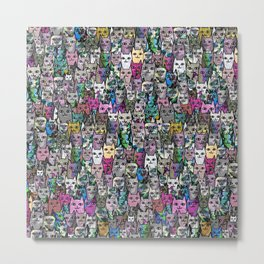 Gemstone Cats CYMK Metal Print