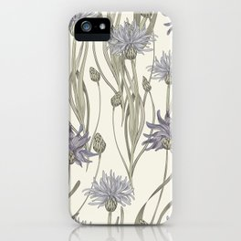 vintage cornflowers iPhone Case
