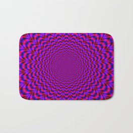 Pulse in Red and Blue Bath Mat
