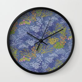 Vintage Japanese floral pattern Wall Clock
