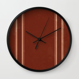 Brown Poncho Pattern Wall Clock