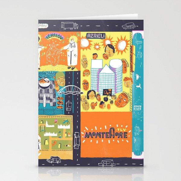Tel Aviv Map - Montefiore Quarter Stationery Cards