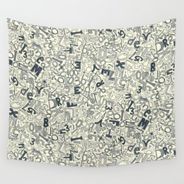 A1B2C3 indigo ivory Wall Tapestry