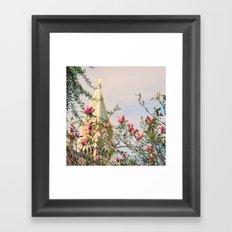 Magnolia Campanile Spring Venice Italy Travel Photography Framed Art Print