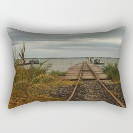 Beziers Bridge to the Mediterranean Sea Rectangular Pillow