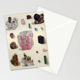The Mineral Kingdom by Dr. Reinhard Brauns, 1903. Germany. Beautiful Gems Mineral Jewels Stationery Cards