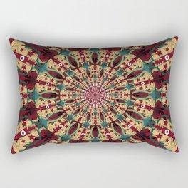 Mandala in red grená Rectangular Pillow