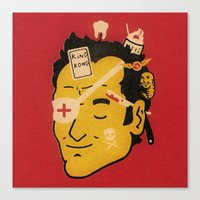 quentin tarantino Canvas Prints featuring Quentin by Derek Eads