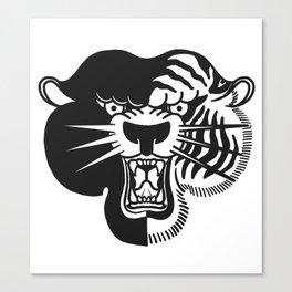 Half Tiger Half Panther Canvas Print