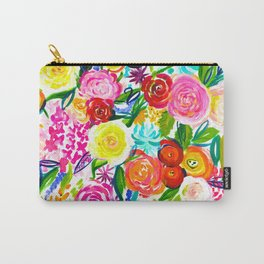 Bright Colorful Floral painting Carry-All Pouch