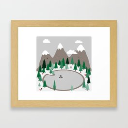 Lake Monster Framed Art Print