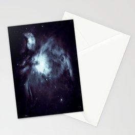 Orion Nebula Midnight Steel Blue Stationery Cards