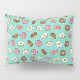 ALL the donuts! Rainbow on Aqua Pillow Sham
