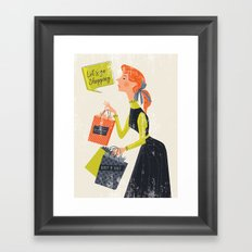 Let's go shopping Framed Art Print