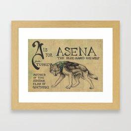 Alphabestiary A - Asena Framed Art Print