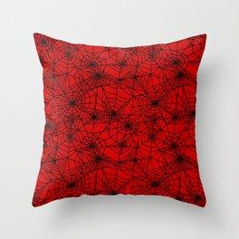 Demon Webs Throw Pillow