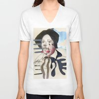 matisse V-neck T-shirts featuring Composition 480 by Chad Wys