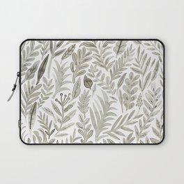 Grey Botanical Laptop Sleeve