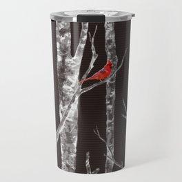 Lone Cardinal Travel Mug