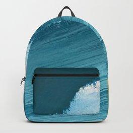 Paradise: a vibrant, minimal, abstract mixed media piece Backpack