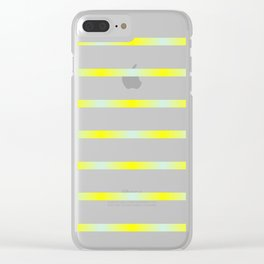 Mint and yellow Clear iPhone Case