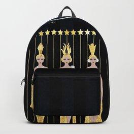 """Art Deco 1920's Illustration """"Lyre"""" Backpack"""