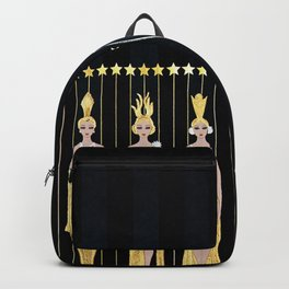 "Art Deco 1920's Illustration ""Lyre"" Backpack"