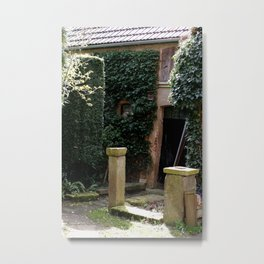 Enchanted Garden House Metal Print