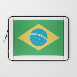 Flag of Brazil. The slit in the paper with shadows. Laptop Sleeve