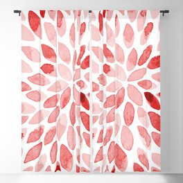 Watercolor brush strokes - red Blackout Curtain