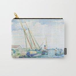 Marine Scene (Boats near Venice) by Henri-Edmond Cross1903, French Carry-All Pouch
