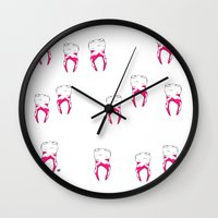 tooth Wall Clocks featuring Tooth by - OP -