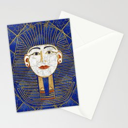 Marble & Gold pharaoh on Lapis Lazuli Stationery Cards