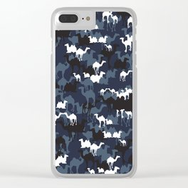 CAMELFLAGE - Special Ops Blue Clear iPhone Case