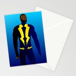 Black Lightning Stationery Cards