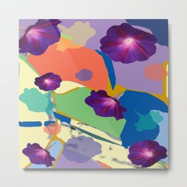 Morning Glory Collage Metal Print