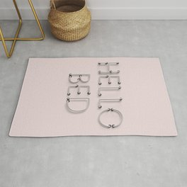 Hello Bed Neon Sign in Pink Rug