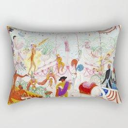 "Florine Stettheimer ""Beauty Contest - To the Memory of P.T. Barnum"" Rectangular Pillow"