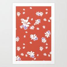 Ditsy - Tango Art Print