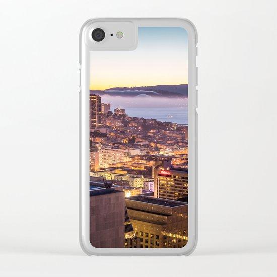California Dan Francisco Clear iPhone Case
