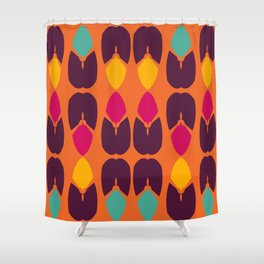 Purple Blue Yellow Pink Petal Abstract Shower Curtain