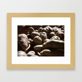 Potatoes Are From Peru Framed Art Print