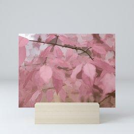 Soft Pastel Leaves Mini Art Print