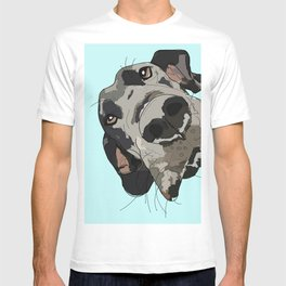 Great Dane in your face (teal) T-shirt