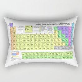 Tabla Periodica De Los Elementos (Periodic Table of Elements in Spanish) Rectangular Pillow