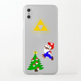 A very nerdy Christmas Clear iPhone Case