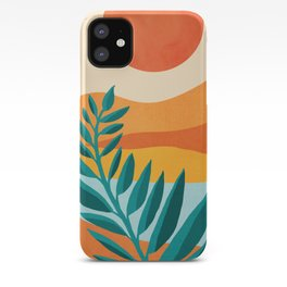 Mountain Sunset / Abstract Landscape Illustration iPhone Case