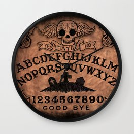 Sugar Skull ouija board Wall Clock