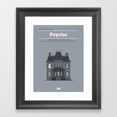 Horror Film Houses 01 Framed Art Print